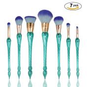 Makeup Brushes Kit 7Pcs Professional Synthetic Kabuki Cosmetics Foundation Powder Cream Blush Eyebrow Eyeliner Face Beauty Brush Kits