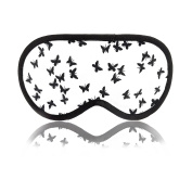 Sleep Mask Butterfly - Extra Soft & Comfortable Premium Quality Eco Cotton Night Eye Mask for Sleeping - Great for Travel, Meditation, Nap & Shift Work - Ultra Lightweight