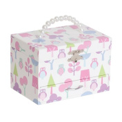 Mele Designs Molly Girls' Musical Ballerina Jewellery Box, Owl Pattern