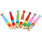 Cido Fun Baby Kids Portable Wooden Flute Whistle Early Musical Education Toys Gift