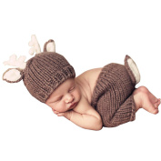KINDOYO Baby Kids Costume Cute Sleeping Bag Sleep Sack Crochet Knit Bean Beanie Photography Costume Props Outfits
