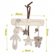 GZQ Baby Music Plush Activity Crib Stroller Soft Toys Rabbit Star Bear Shape