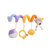GZQ Toys Spiral Pendants for Cradle Stroller babies boys girls with sounds Bear