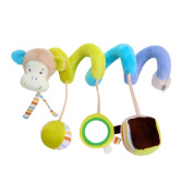 GZQ Toys Spiral Pendants for Cradle Stroller babies boys girls with sounds Monkey