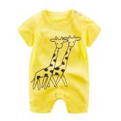 TRENDINAO Newborn Baby Boy Girl Cartoon Giraffe Romper Jumpsuit Toddlers Infant Climbing Clothes