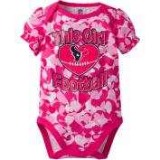 NFL Houston Texans Baby Girls Short Sleeve Heart Camo Bodysuit
