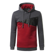 Sinwo Men Long Sleeve Hoodie Stitching Colour Coat Jacket Outwear Sport Tops Blouse Sweater Pullover Loose Blouses Hoody