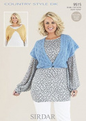 Sirdar Ladies Boleros Country Style Knitting Pattern 9515 DK