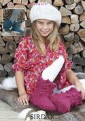 Sirdar Ladies & Girls Slipper Boots Click Knitting Pattern 9500 Chunky