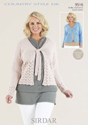 Sirdar Ladies Cardigans Country Style Knitting Pattern 9516 DK