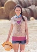 Sirdar Ladies Top Americana Knitting Pattern 7029 DK