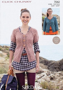 Sirdar Ladies Cardigans Click Knitting Pattern 7042 Chunky
