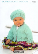 Sirdar Baby Jacket & Hat Supersoft Knitting Pattern 1760 Aran