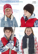 Sirdar Childrens Hats, Scarves & Mittens Supersoft Knitting Pattern 2365 Aran
