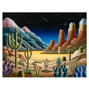 TOOGOO(R) 5D Diamond Desert Cactus Painting Embroidery Cross Stitch Home Decor DIY Craft