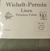 100% Linen Laurel Green 32 Ct 46cm x 70cm Wichelt Permin Cross Stitch Fabric
