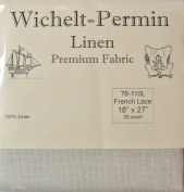 100% Linen French Lace 28 Ct 46cm x 70cm Wichelt Permin Cross Stitch Fabric