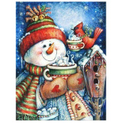 Diamond painting Christmas and Halloween House Decoration Snowman Bird Cup Tea Gift full square resin Rhinestone Diamond Needlework Handcraft multi-size
