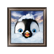 OHTOP DIY 5D Cute Penguin Diamond Embroidery Rhinestone Painting Cross Stitch Decor