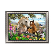 OHTOP DIY 5D Horse Animal Diamond Embroidery Rhinestone Painting Cross Stitch Decor