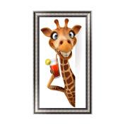 OHTOP DIY 5D Cartoon Giraffe Diamond Embroidery Rhinestone Painting Cross Stitch Decor