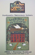 Everyday Blessings Farm House Angel Sheep Punchneedle Punch Needle Embroidery Teresa Kogut Pattern PN084