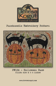Halloween Duos Cat Punchneedle Embroidery Teresa Kogut Pattern PN156 Autumn Fall
