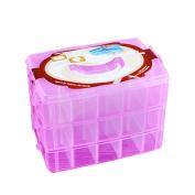 CYCTECH®Clear Plastic Craft Storage Containing Rose Flower Eyelashes Square Jewellery Box Storage Box