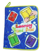 Yoovi Montessori Learn to Dress Boards Toys Book - Zip, Snap, Button, Buckle, Lace and Tie Early Learning Basic Life Skills Toys Book