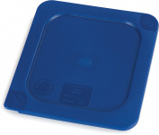 Carlisle 3058260 Smart Lids Sixth Size Polyethylene Lid, Dark Blue