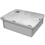 Canplas 3925A02LO Thermoplastic Grease Interceptor - Low Profile, 94.6ls per Minute, 23kg. Grease Capacity