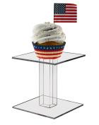 Marketing Holders 10cm Square Counter Top Pedestal Display Riser