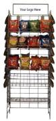 Wire Snack Rack - Chip Rack - Wire Shelf Snack Display - Black