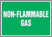 Sign Non-Flammable Gas 7X10 Alum