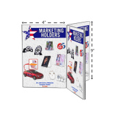 Marketing Holders 10cm x 15cm Three-Panel Six-Sided Table Tent Sign Holder