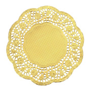 Lace Paper Doilies Cake Placemats Crafting Coaster of Party Wedding Gift Tableware Decoration 36pcs 14cm ,Gold Round