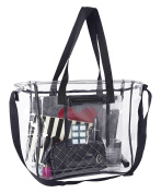 Deluxe Clear Bag | Extra Large Lunch Box With Adjustable Straps & Handles | Tote Container For The Office, Travel, Stadiums & Security Checkpoints | NFL & PGA Approved | For Men, Women & Kids