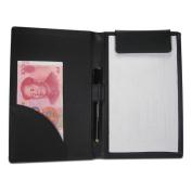 KINGFOM eather Menu Folder Guest Cheque Presenter with Pen Clip for Hotel Bar Salon KTV Restaurant