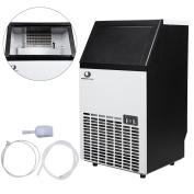 BEAMNOVA Stainless Steel Commercial Ice Maker Under Counter Freestanding Machine for Restaurant