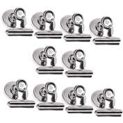 COSMOS 10 Pcs Heavy Duty Metal Refrigerator Magnetic Spring Clips Clamp
