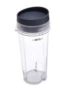 Ninja Ultima & Professional Series Nutri Blender Cup - 470ml Single Serve To Go Cup with Lid / 7.6cm Diameter
