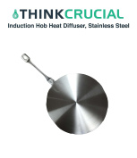 """Induction Hob Heat Diffuser Stainless Steel, Medium (23.5cm/9.25""""), by Think Crucial"""