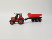 Bisyatta Play Toy Farm Tractor with Trailer