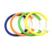 Silfrae Diving Ring Underwater Swimming Pool Toys Swimming/Diving Training Under Water Fun Ring 4PCS