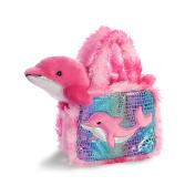 Aurora World Pet Carrier Plush Toy Animal, Fancy Pals Dolphin, 15cm
