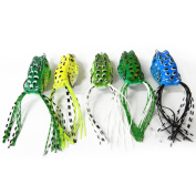 Ray-JrMALL Plastic Frog Fishing Lure Crank Baits Double Claw-Like Hook