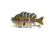 7.6cm Crazy Panfish Series Multi Jointed Fishing Hard Lure Bait Swimbait Life-like
