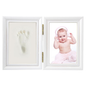 Baby Handprint and Footprint Picture Frame Kit,Memorable Keepsakes Gift for New Born, Baby Shower or Christening Gift,Baby Prints Photo Frames Hand and Footprint Baby Keepsake