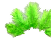 1 Pack - Chartreuse Green Turkey Marabou Short Down Fluff Loose Feathers 5ml