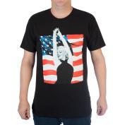 Big Men's Marilyn Monroe American Flag Cotton Graphic Tee